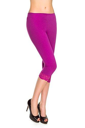 Fashion® Leggings colores algodón todos 4 encaje y con tamaños 3 de trenzado Futuro de Amaranth los pqdxap