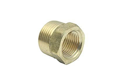 """Pack of 5 Brass Pipe Hex Bushing Reducer Fittings 1//2/"""" Male x 1//4/"""" Female NPT"""