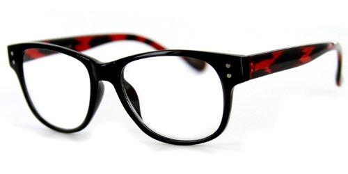 Mastermind Fashion Readers with Vintage Retro Design - 50mm x 18mm x 140mm (Black & Brown ()