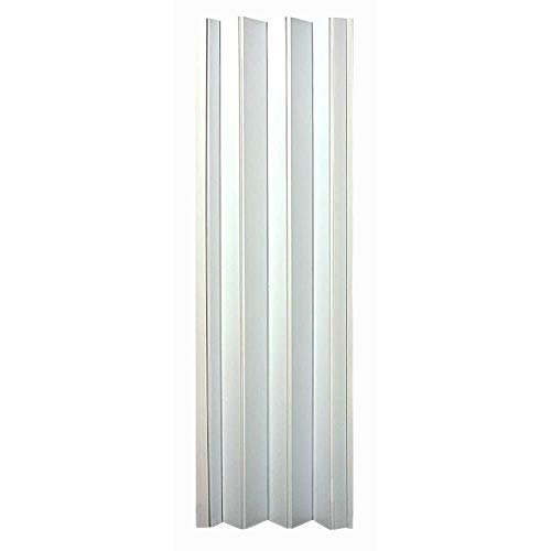 "LTL Home Products OK4880H Oakmont Interior Accordion Folding Door, 48"" x 80"", White"