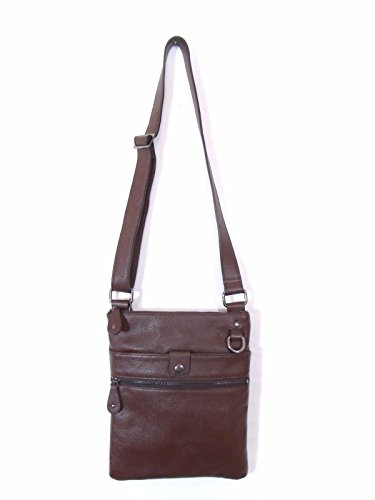 Brown Leather Italian Luxury Shoulder Bag by Besso
