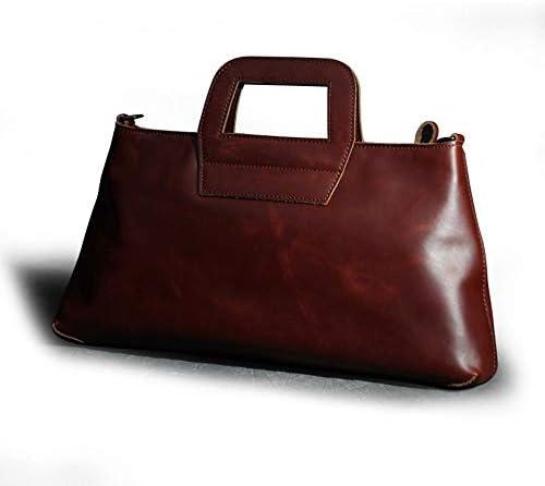 バッグ - 牛革/ブラウンレッド/ヴィンテージスタイルのファッションの女性のバッグ、ポータブル女性の手持ちショルダー/斜めバッグ、ソフト/耐摩耗性(41x19x21cm) よくできた