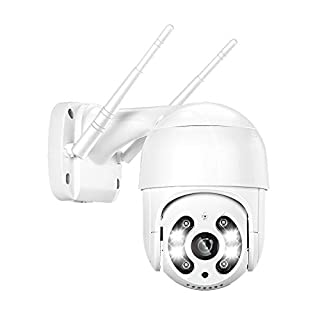 【AI】 3MP PTZ Camera Outdoor, Fyuui 3MP HD Wireless Security Camera, WiFi Pan Tilt Zoom IP Camera, 2 Way Audio, Color Night Vision, Siren and Light Alarms