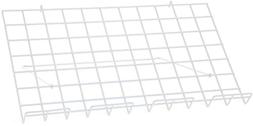 Lot of 4 New Retails White Adjustable Grid Shelf 24''w x 14''d by Grid Shelf