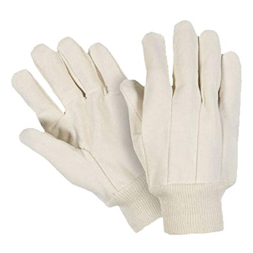 Large Heavy Weight 100/% Cotton White Pack of 12 Southern Gloves I123 Import Natural Knit Wrist