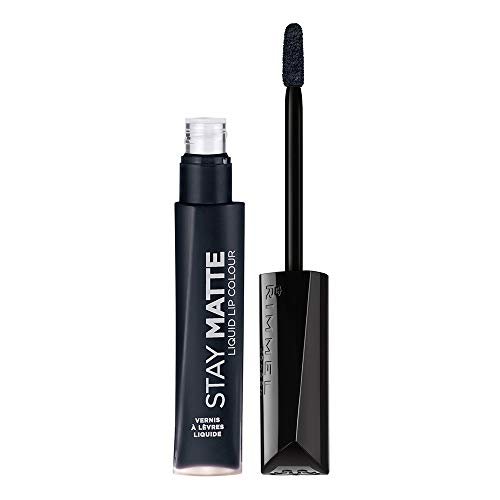 Rimmel Stay Matte Lip Liquid, Pitch Black, 0.21 Fluid Ounce