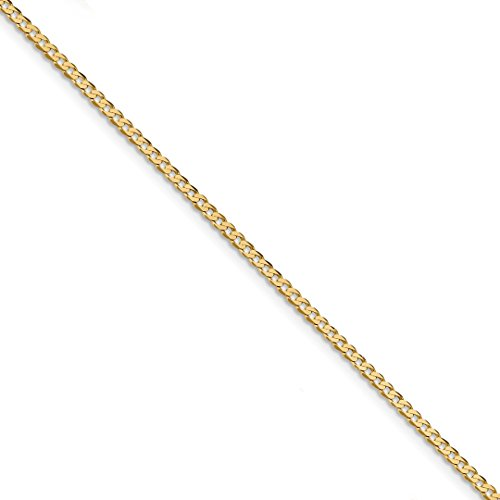 Ankle Bracelet Charm Foot Jewelry - ICE CARATS 14kt Yellow Gold 2.2mm Beveled Link Curb Chain Anklet Ankle Beach Bracelet 9 Inch Fine Jewelry Ideal Gifts For Women Gift Set From Heart 14kt Gold Curb Chain Bracelet