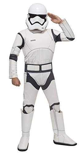 Star Wars VII: The Force Awakens Deluxe Child's Stormtrooper Costume and Mask, Medium]()