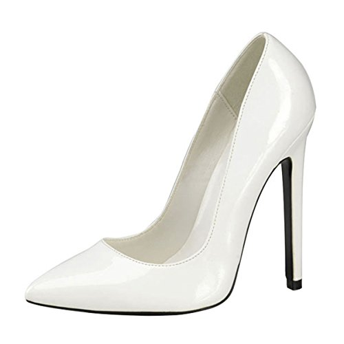 Heels-Perfect - Zapatos de vestir de material sintético para mujer blanco blanco blanco - blanco