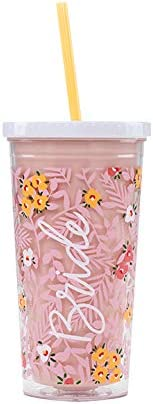 About Face Designs Catspresso Yourself Multi Kitty Pink 20 oz Acrylic Tumbler With Straw