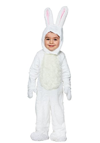 Toddler Open Face White Bunny Costume - 4T