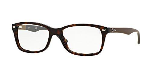 Ray-Ban RX5228 Square Eyeglass Frames, Tortoise/Demo Lens, 53 ()