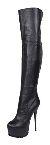 AROLLO Damen Anna 3 Special Edition Echtleder Overknee Stiefel