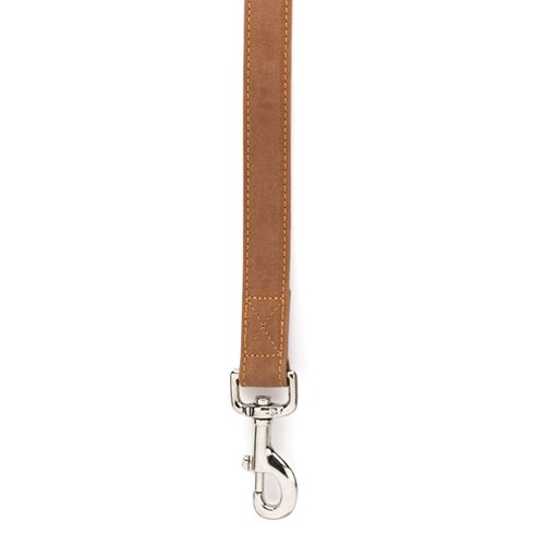 East Side Collection Faux Suede Cozy Sherpa Dog Lead, 4-Feet, Chestnut