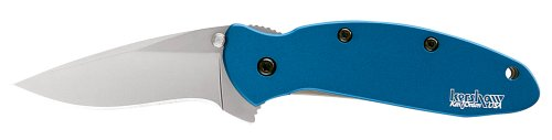 Kershaw Ken Onion Blue Scallion Folding Pocket Knife with Speed Safe, Outdoor Stuffs