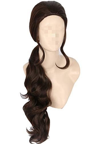 Topcosplay Kids Child Wig Elena Cosplay Halloween Cosutme Wig Brown with Ponytail -