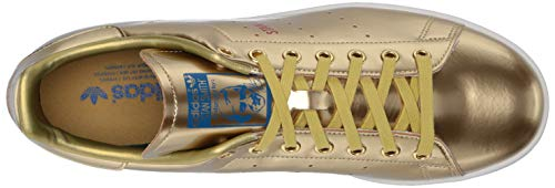 adidas Originals mens Stan Smith Sneaker, Crystal White/Scarlet/Lush Blue, 8.5 US