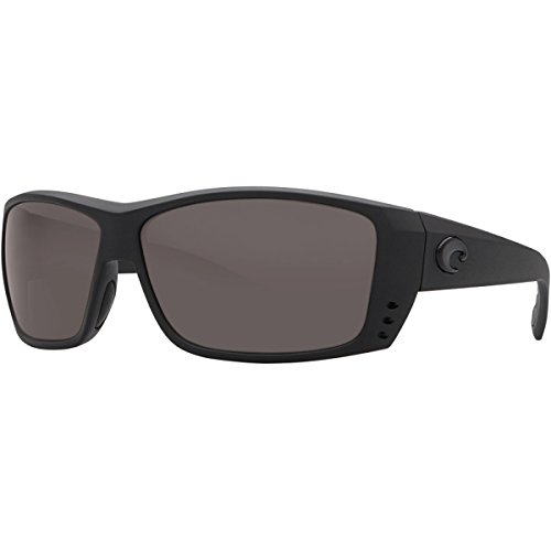 Costa Del Mar Cat Cay Sunglasses, Blackout, Gray 580 Glass Lens by Costa Del Mar