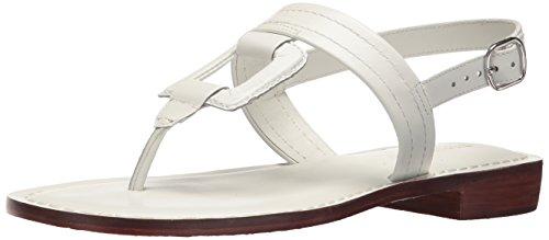 Bernardo Women's Tegan Flat Sandal, White Antique Calf, 9M M US