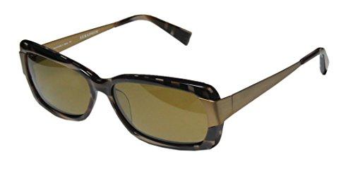 Seraphin Sheridan Sun Mens/Womens Designer Full-rim Titanium Polarized Lenses Sunglasses/Shades (57-15-140, Multicolor Brown / Antique - Sunglasses Seraphin