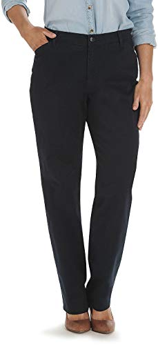 (LEE Women's Relaxed Fit All Day Straight Leg Pant, Imperial Blue, 4)