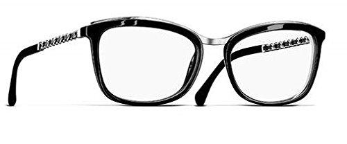 c96e6886 Chanel Women's Prescription Eyewear Frame Black black Large: Amazon ...