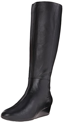 Image of Cole Haan Women's Tali Grand Tall BT40 Motorcycle Boot, Black, 9 B US
