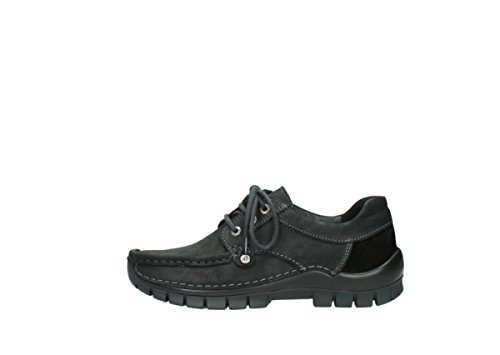 10000 Zapatos nbsp;seamy Wolky Lace comodidad Black Up Fly Nubuck 04734 tw0xPOCxq