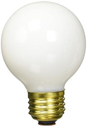 Bulbrite 25G19WH 25W G19 Globe 120V Medium Base Light Bulb, ()