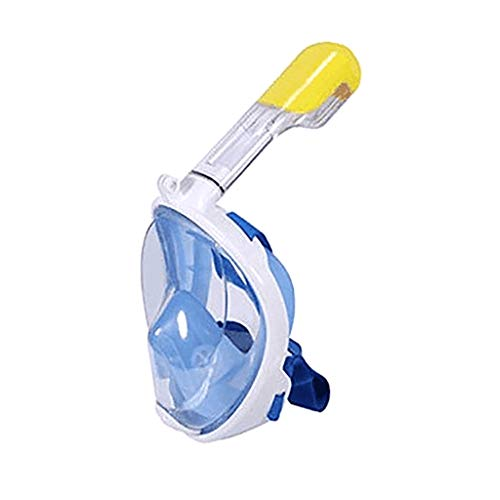 TIFENNY Full Face Snorkel Mask Diving Swimming Mask Easy Breath Anti Fog Curved Mask -