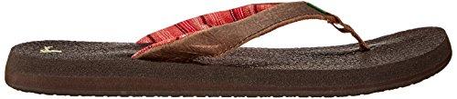 Sanuk Yoga Mat Primo 29418201 - Chanclas de caucho para mujer Marrón (Braun (Dark Chocolate))