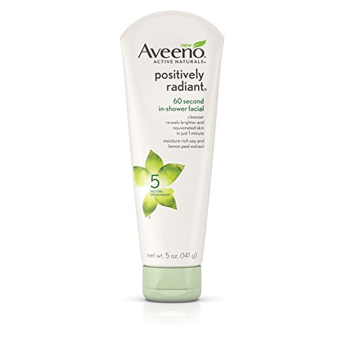 Aveeno Active Naturals Positively Radiant 60 Second In-Shower Facial, 5 Oz. (Pack of 3)