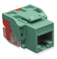 IC1078L6GN - Cat6 Jack - Green by ICC