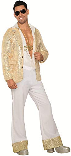 Forum Novelties Men's Disco Pants-White, As Shown, Standard -
