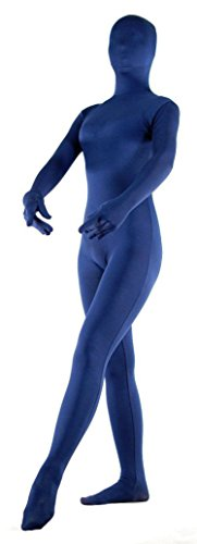 VSVO Unisex Spandex Second Skin Full Bodysuit (X-Large, -