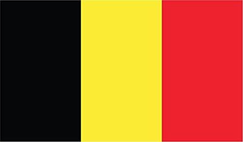 JMM Industries Belgium Flag Vinyl Decal Sticker Koninkrijk België Car Window Bumper 2-Pack 5-Inches by 3-Inches Premium Quality UV-Resistant Laminate PDS386