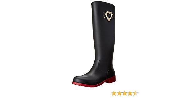 Amazoncom Love Moschino Botas de corazón lluvia para mujer
