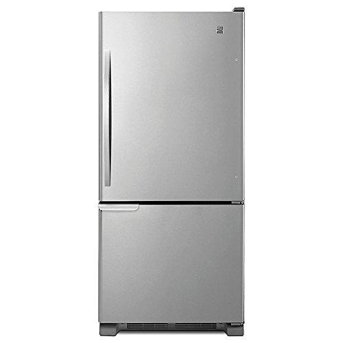 Kenmore 69313 19 Cu  Ft  Bottom Freezer Refrigerator   Stainless Steel