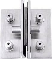 CRL Brushed Stainless 2-Way Glass / 1-Way Wall Rectangular Bracket by C.R. Laurence