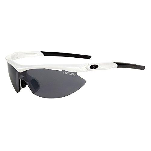 (Tifosi Slip Asian Fit Interchangeable Lens Sunglasses - Pearl White)