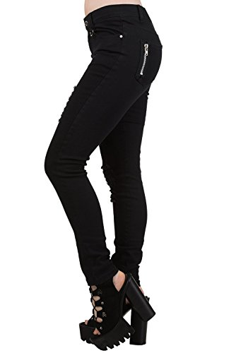 Banned On Move noir Sexy Troué Skinny Up Jeans TTAWfqrH
