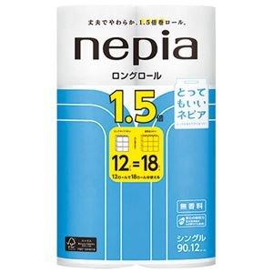 (まとめ) ネピア ロングトイレットロール12R シングル 90m【×10セット】 B07RFCHBT8