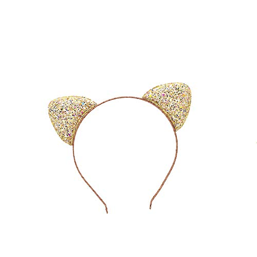 Price comparison product image 1Pcs Newnew Fashion Children Cat Ear Rainbow Bowknot Headband Girl Glittering Hair Hoop Party This For Childre