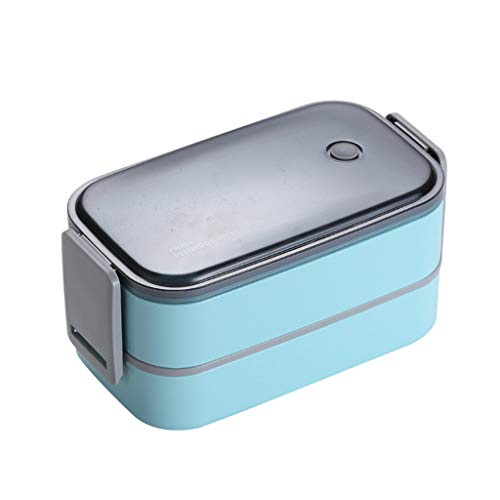 GSusan Nachhaltige Lunchbox für Kinder - 2 integrierte praktische Dosen - Extra kinderfreundliche Bento Box - Perfekt für Unterwegs (Weiß)