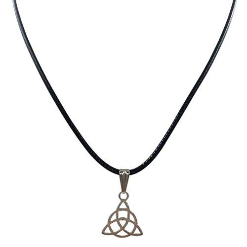 Fashion Charm Triangle Pendant Necklace,FimKaul Women Black Leather Cord Choker Necklace
