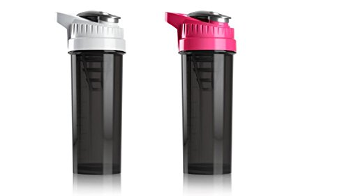 Cyclone Cup Blender Shaker Bottle: 32 Ounce Shake Mixer Bottles for Protein Shakes a Protein Shaker Bottle, Shake Mixer Bottle – Mixer Cup Set of 2 Pink and White Review