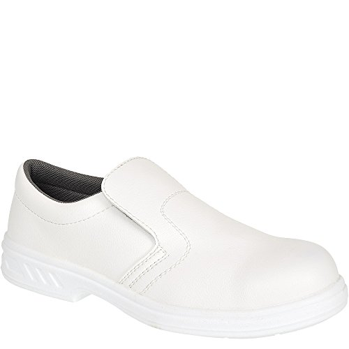 Portwest FW81 - Slip-On de seguridad S2 Zapato, color Blanco, talla 37 Weiß
