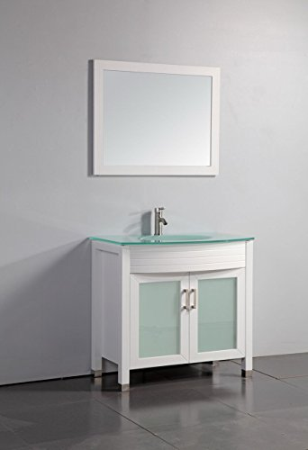 "Legion Furniture WA3236W 36"" Tempered Glass Top Bathroom ..."