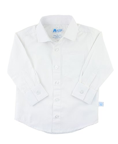 Cuff Oxford (RuggedButts Infant / Toddler Boys White Formal Button Down - White - 12-18m)