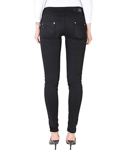 Caldi 9017 KRISP Donna Jeans Pantaloni Casual Denim Jeans Schwarz nCafCPwqx